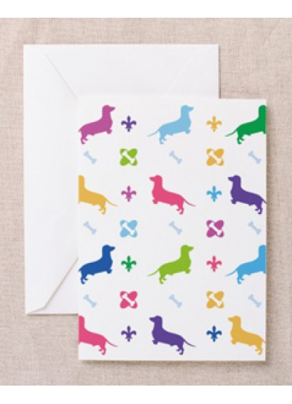 Dachshunds and bones card