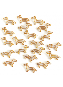 Dachshund shape paper clips pack 20