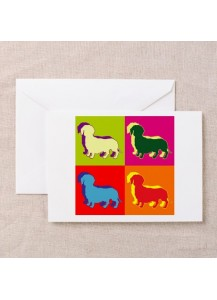 Dachshund pop art card